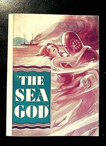 THE SEA GOD 1930 ORIGINAL MOVIE HERALD, FAY WRAY, RICHARD ARLEN, EUGENE PALLETTE