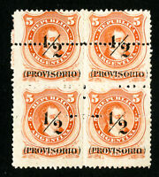 Argentina Stamps # 4ZB VF ERROR BLOCK 4 OG LH Scott Value $160.00