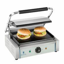 Kontaktgrill Elektro Gastro Edelstahl 230V 2200W Panini Toaster Grill