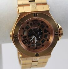 Renato Men's Wildebeast Watch, Goldtone Automatic Skeleton, Swiss ETA 2824