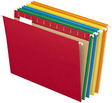 Hanging File Folders Letter Size Assorted Colors w/ 1/5-Cut Adjustable Tabs 25ct