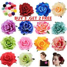 10cm Rose Flower Hair Clip Bridal Hairpin Brooch Wedding Accessory Bridesmaid