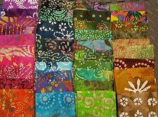 Lot #HB1 15 half yards No Duplicates 100/% BATIK Cotton Quilting Fabric,7.5 yds
