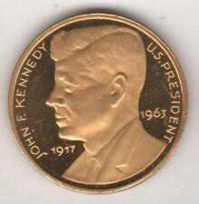 JOHN KENNEDY 1917-1963 MEDAGLIA DORATA STATUA LIBERTA' (MM.32) #MD530