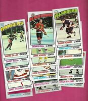 1976-77 TOPPS NHL PLAYERS  NRMT++  CARD LOT  (INV# C6191)