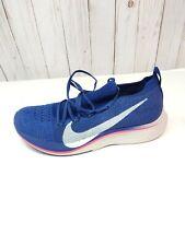 NIKE Vaporfly 4% Flyknit Running Shoes AJ3857-400 Blue (MEN'S 8.5) *NO LID*