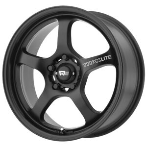"Motegi MR131 17x7 5x100 +45mm Satin Black Wheel Rim 17"" Inch"