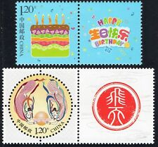 CHINA 2015 SPECIAL ISSUES: Z 41 FLYING FAIRY & Z42 HAPPY BIRTHDAY mint NH