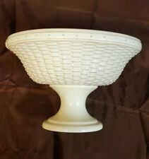 Longaberger Woven Reflections Pottery Large (Cream) Compote Bowl