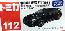 Tomy Tomica No.112 Subaru WRX STI Type S (Black) Scale 1 : 62 Specials Color