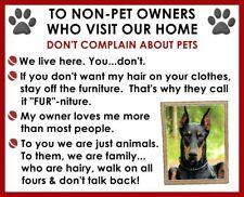 DOBERMAN Non Pet Owner Magnet #2
