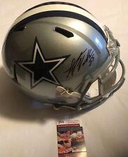 Leighton Vander Esch Autographed Full Size Dallas Cowboys Speed Helmet JSA COA