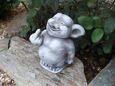 Steinfigur Wichtel Troll für Garten Deko Gartenfiguren Gnom Fantasiefigur