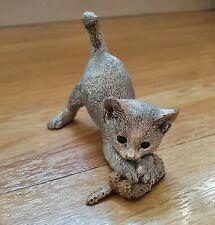 More details for sterling silver filled cat kitten ornament figure giftware 1999 11.5cm long