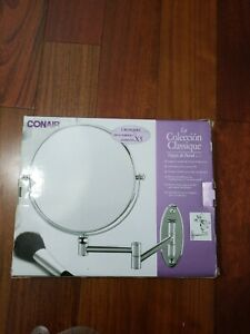 Conair Chrome Standard & 5X Magnification Mirror Wall Mount 82620-5clo1