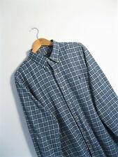 POLO RALPH LAUREN | Men's Blue Plaid Check Button Down LS Shirt | XL
