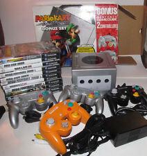 Platinum Nintendo GameCube Mario Kart Console 11 Game Bundle System Complete CIB