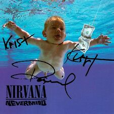 NEVERMIND NIRVANA  AUTOGRAPH Album Picture (REPRINT)