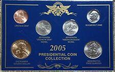 2005 Presidential Coin Collection –Six BU Coins
