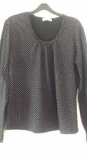 Ladies black/white spotted long sleeved top  size xl