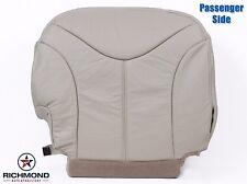 2002 GMC Yukon XL 2500 QUADRASTEER -Passenger Side Bottom LEATHER Seat Cover Tan