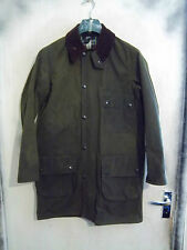 VINTAGE BARBOUR SOLWAY ZIPPER WAXED HUNTING JACKET SIZE C36 91CM