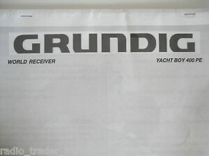 GRUNDIG YACHT BOY (MANUAL ONLY).............RADIO_TRADER_IRELAND.