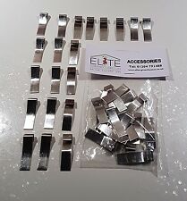 20 Elite Greenhouse Rust Free Aluminium Glazing Overlap Clips flexible tolerance