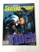 VINTAGE SKATEBOARD TRANSWORLD MAGAZINE OCTOBER 1985 TONY HAWK CENTERFOLD FSTSHP