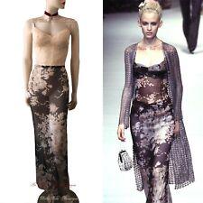 DOLCE & GABBANA vintage 1997 nude floral corset lace DRESS size UK 12 US 8 44 DG