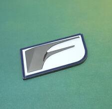 Metal F Sport Logo White Emblem decal badge sticker Lexus IS 250 350 GS 350 450