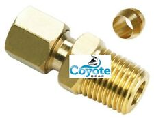"""25 Pack Lot Lead Free Brass 3/8"""" Tube OD x 3/8"""" NPT Male Compression Fittings"""