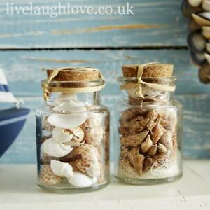Pair Of Shell Filled Bottles - Set A