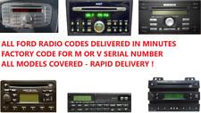 *INSTANT* FORD MONDEO TRANSIT FOCUS KA RADIO CODE M OR V SERIAL 6006E 6000CD