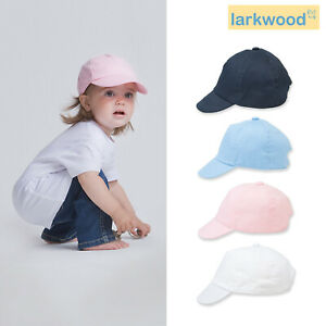 Larkwood Baby Toddler Cap LW090 - Kids Soft Cotton Hat Children's Headwear