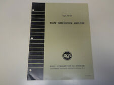 RCA TA-4A Amplifier Studio Broadcast Television TV Instruction Manual