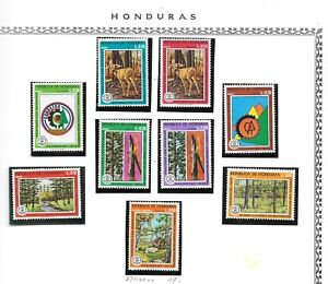 HONDURAS. 1976. FOREST PROTECTION. DEER. NEVER HINGED AIR + EXPRESS SET