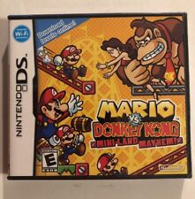 MARIO DONKEY KONG MINI LAND MAYHEM NINTENDO DS GAME NEW FACTORY SEALED PACKAGE