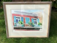 Original Judy Ashcroft Watercolour Painting French Quarter New Orleans Framed