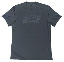 sports shoes f40ea 56a82 Nike DRY Fitted Training Shirt Gray Black Camo XL New Gym Dri-Fit
