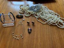 Costume Jewellery Bundle - Michaela Frey Bangles Pearl Necklaces, Russian Brooch