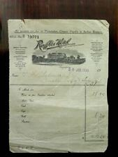 RARE 1930 SARKIES  RAFFLES HOTEL INVOICE & 4 RAFFLES LABELS & 1 POSTCARD & BOOK