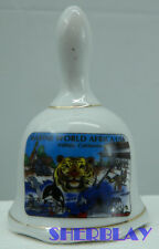 Marine World Africa Usa Vallejo Ca Collectible Souvenir Hand Bell 3 1/2""