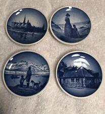 Royal Copenhagen Collector Mini 3-Inch 4 Plates-Denmark Blue Sea Water Scenes