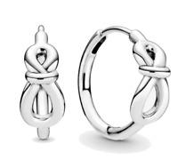 925 Sterling Silver Infinity Knot Hoop Earrings