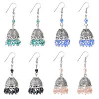 Elegant Retro Indian Crystal Drop Earring Traditional Ethnic Gypsy Women Jewelry