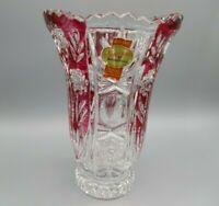 "Bleikristall Vase ""Anna Hütte"" 24% Pbo Made in Germany 70er Jahre"