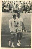 Tennis - Autografo di Ernst Buchholz su fotografia con Fausto Gardini