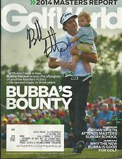 Bubba Watson Signed Autographed Masters Win Golf World!!! W/ Son!!!