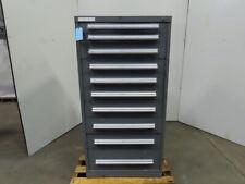 Stanley Vidmar 10-Drawer Industrial Parts Tool Storage Shop Cabinet 30